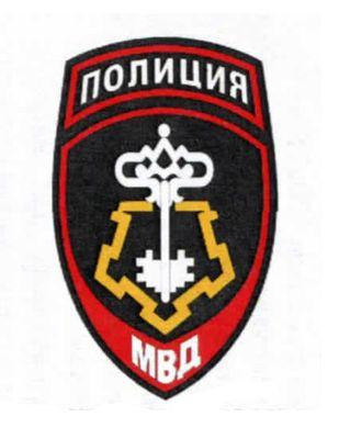 Нашивка служба безопасности и охраны с символом щит и меч 39
